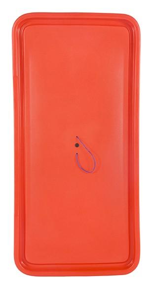 Deckel BAHIA, für Ablage Box, rot
