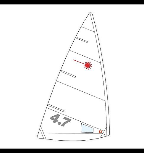 Segel, Laser, 4.7 Class Compatible - NICHT VERMESSEN!!